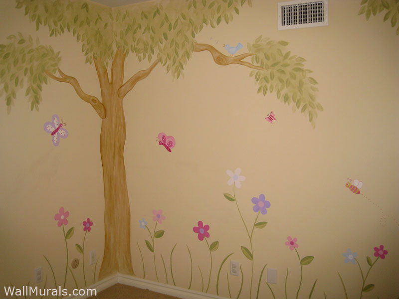 Girls Room Wall Murals Examples Of Wall Murals For Girls