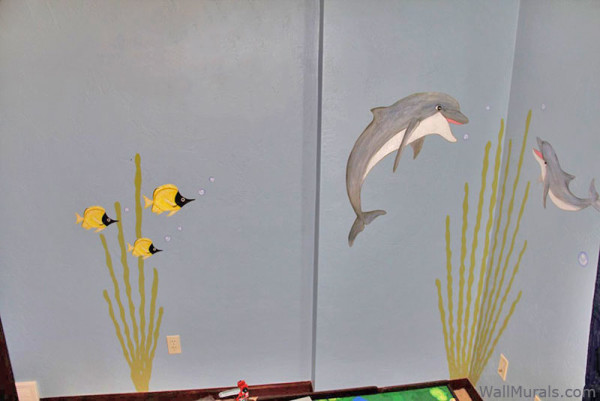 Dolphin Wall Decals - Installed