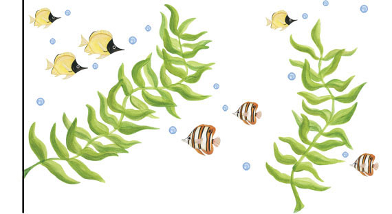 Seaweed Wall Decals - Layout Sheet