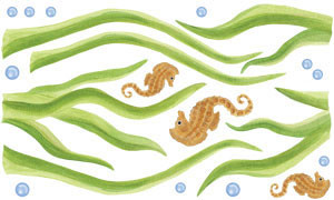 Eel Grass Wall Decal Sheet