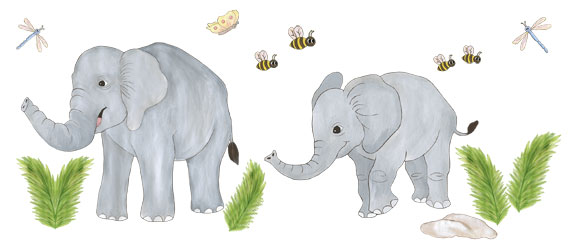 Elephant Wall Decals - Layout Sheet