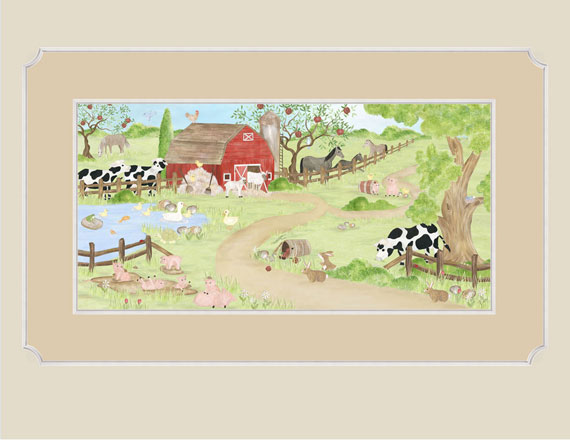 Barnyard buddies wallpaper mural for Barnyard wall mural