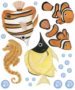 Fish Decal Sheet
