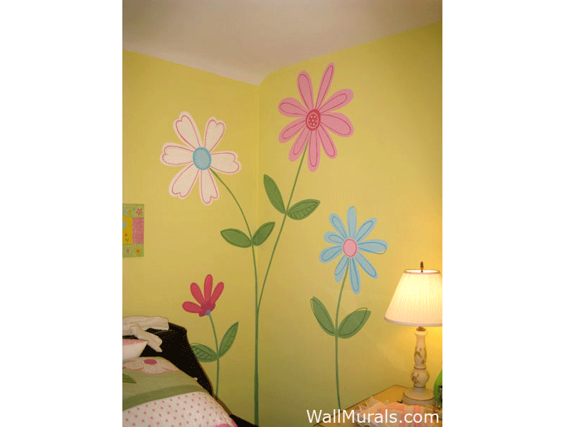 Flower Wall Mural For Girls Bedroom