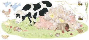 Farm Animal Decal Sheet - Barnyard Dreaming