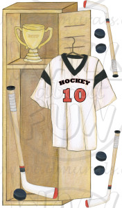 Hockey Locker Wall Decals