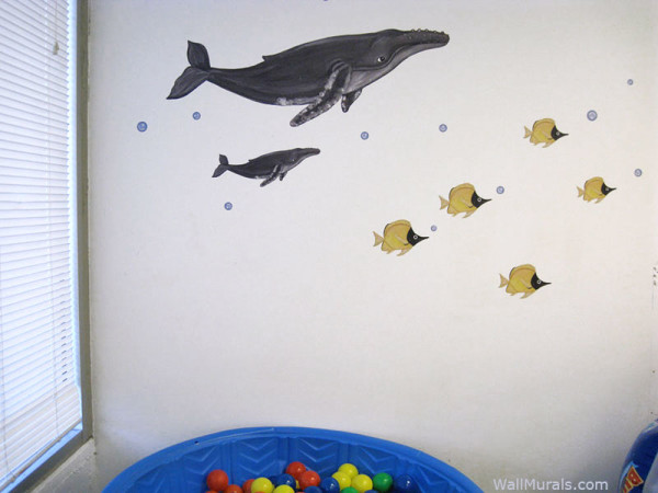 Humpback Whale Wall Decals - Installed