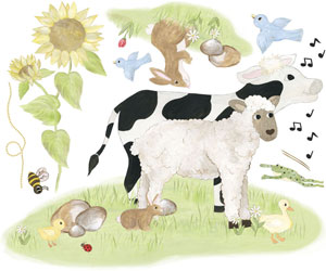 Lamb & Cow Decal Sheet
