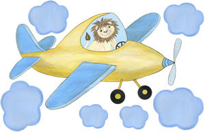 Sky King - Yellow Airplane - Decal Sheet