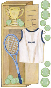 Personalized Tennis Locker (Close-up)