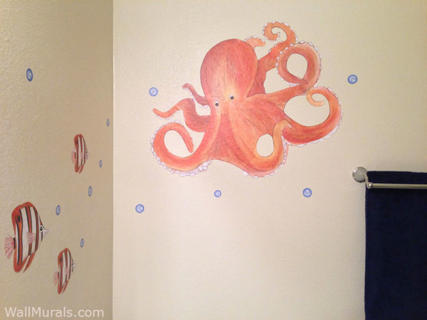 Octopus Wall Decals - Installed