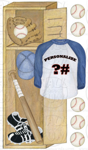 Personalized Baseball Locker Wall Decals