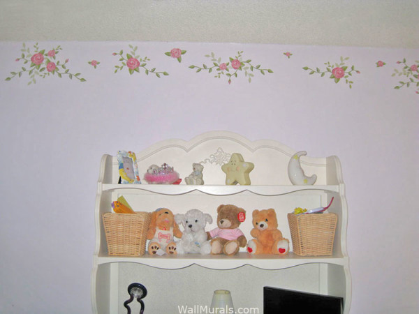 Rose Decals - Installed Rose Border