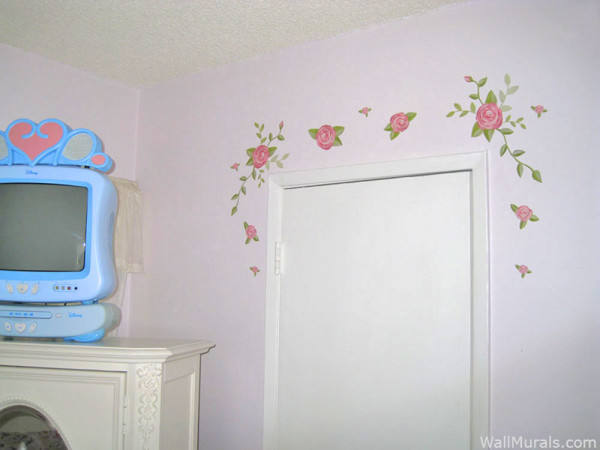 Rose Decals - Installed over doorway