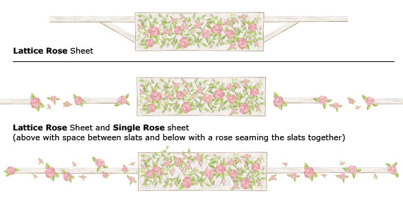 Rose Lattice -Layout Sheet