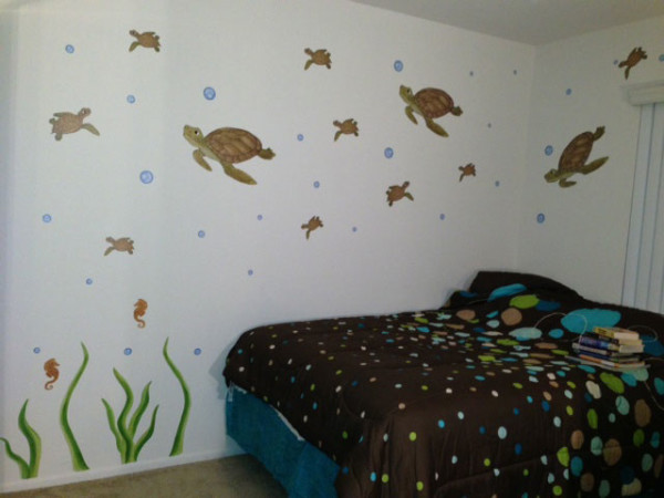Sea Turtle Decals - Installed