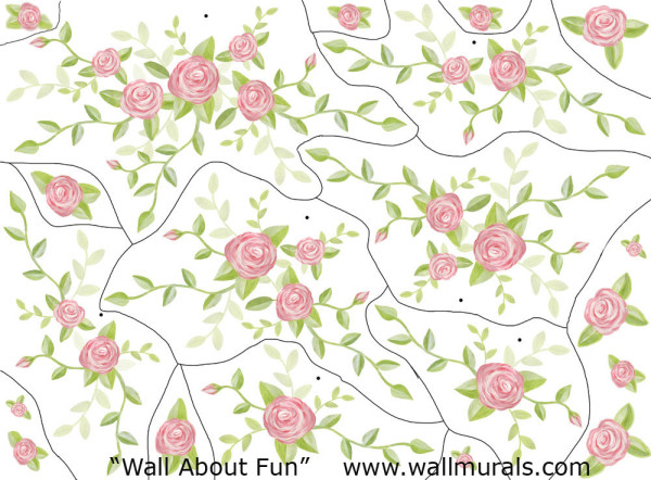 Small - Rose Bouquet Decals (close-up)