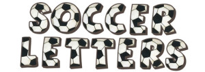 Soccer Letter Wall Decals