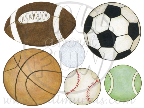 Sports Ball Wall Decals