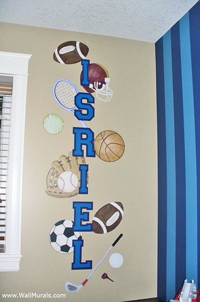 Sports Equipment Wall Decals - Installed