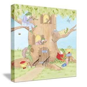 Tree Froggies - Canvas Wall Art