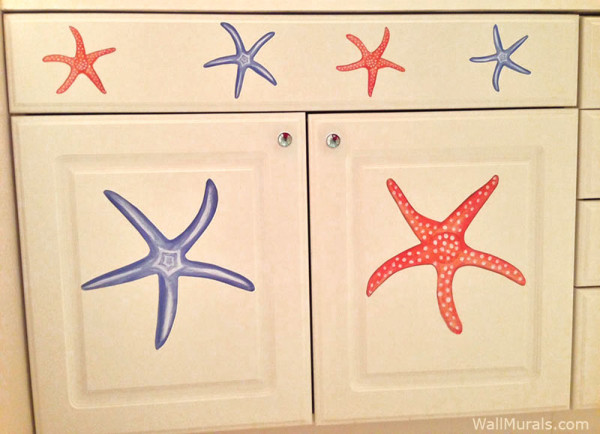 Starfish Decals - Installed on Furniture