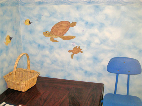 Sea Turtle Wall Decals - Installed