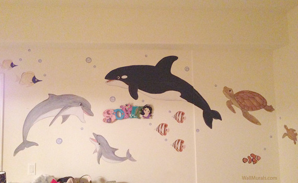 Sea Creatures Variety - Wall Decals - Installed
