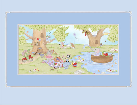 frolic in the forest whimsical animal wallpaper