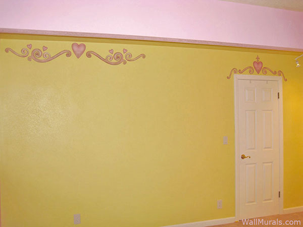 Heart and Scroll Wall Border