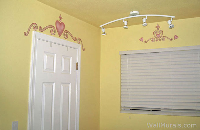 Heart - Scroll Wall Decal Border