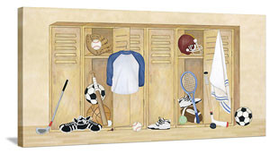 Sports Locker Variety - Canvas Wall Art