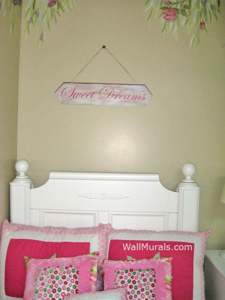 Personalized banner with rope and nail decals