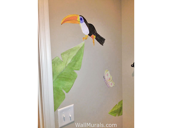 diy wall murals do it yourself murals mr kate diy watercolor mural wall