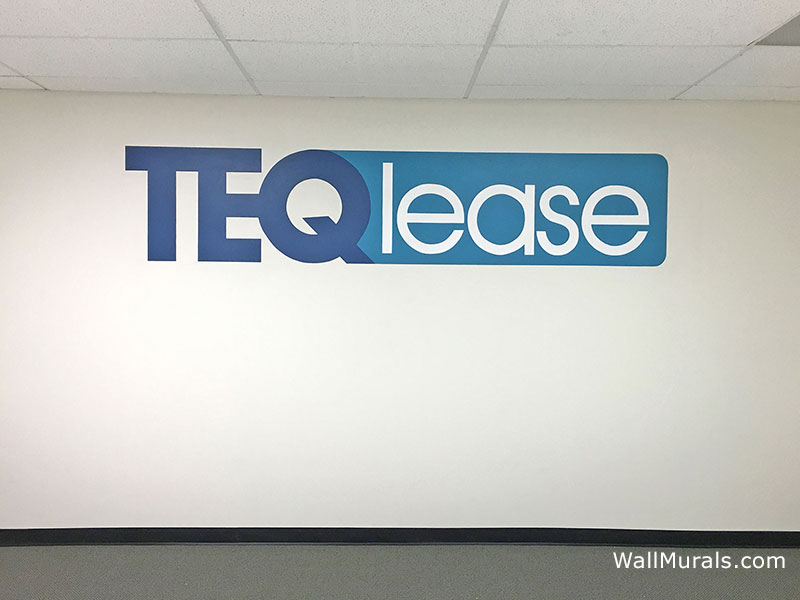 Painted Logo on Wall - Business Mural