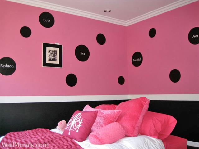 Polka Dot Wall Mural for Tween