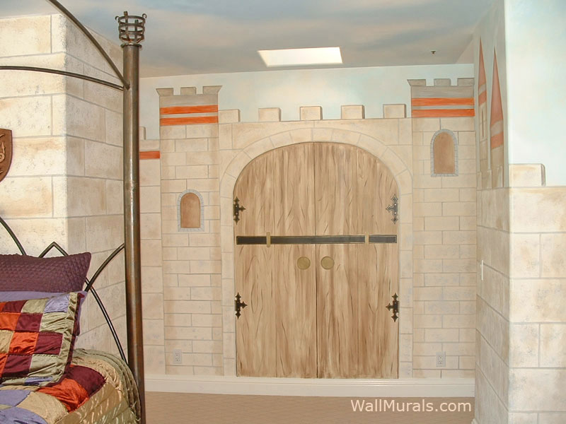 Castle mural examples castle wall muralswall murals by for Castle wall mural
