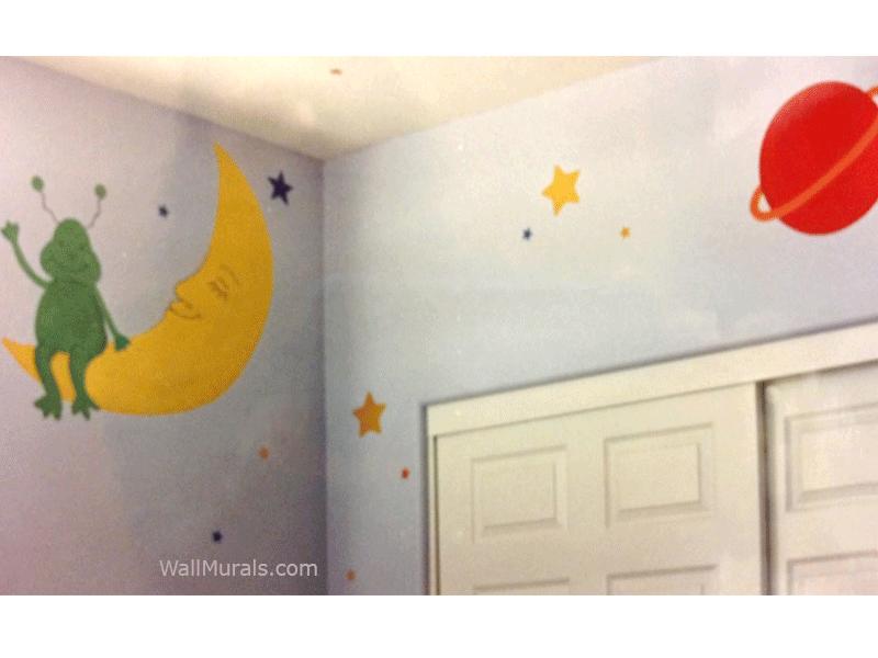 Martian on Moon Wall Mural
