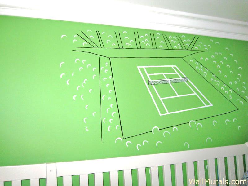 Tennis Wall Mural
