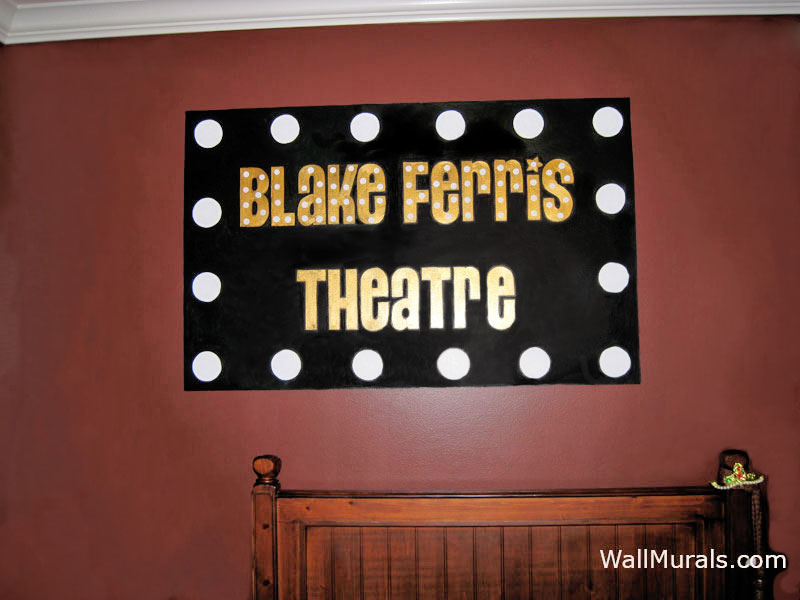 Theatre Mural - Name in Lights
