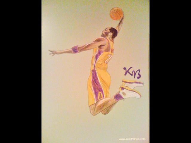 Kobe Bryant Basketball Mural for Tween