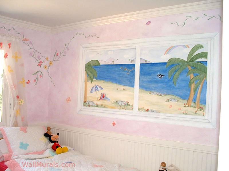 Ocean Mural - Beach Scene