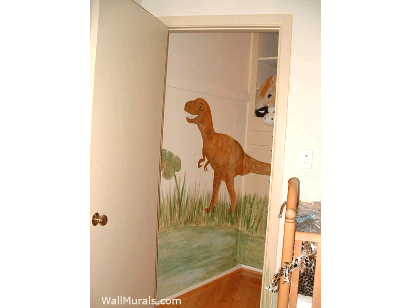 T-Rex Dinosaur Mural