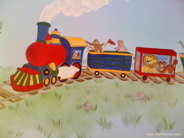 Vintage Train Wall Mural