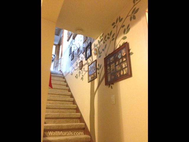 Family Tree Mural in Stairway