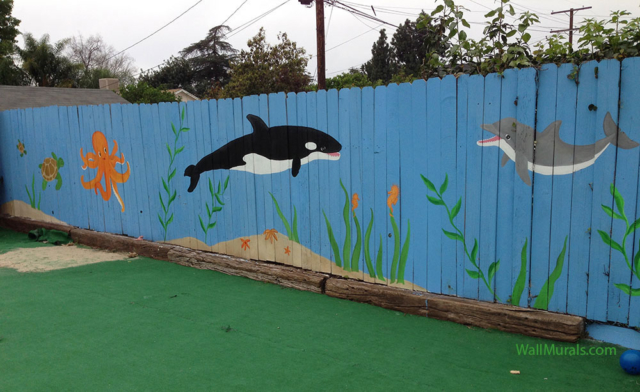 Wall Mural on Fence at Preschool