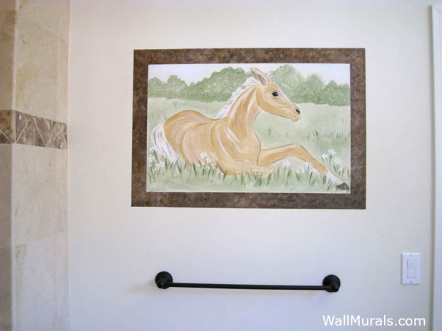 Window Wall Mural with Horse