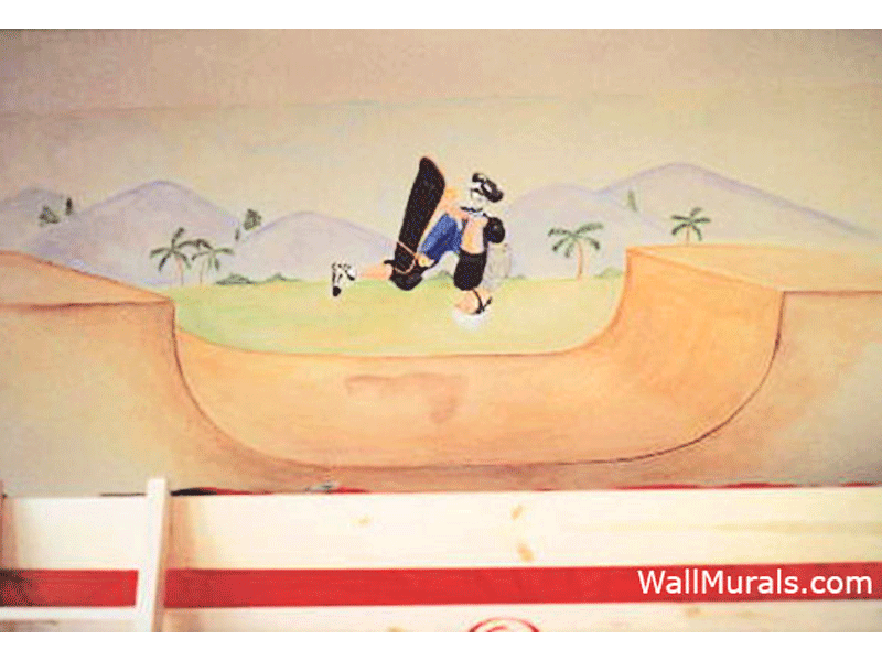 Teen Skateboard Wall Mural