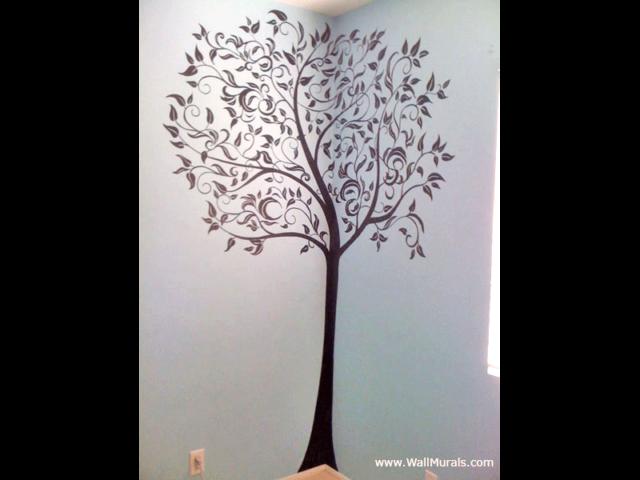 Teen Wall Mural - Black Tree