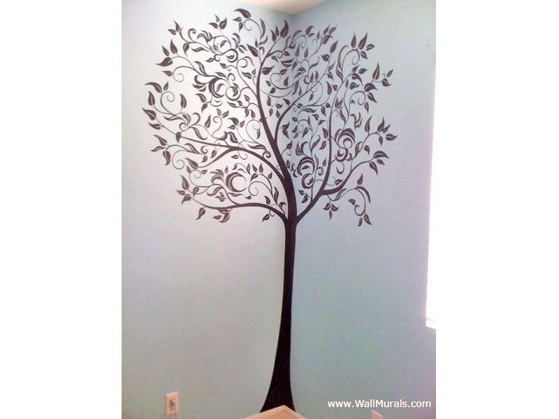 Teen Wall Mural   Black Tree Part 48